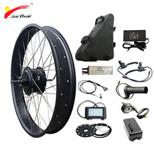 JS 48V 1000W Electric Bike Conversion Kit with 48V20AH Battery Brushless Hub Rear Motor Wheel bicicleta electrica E-bike Kit pasion e bike conversion kits with battery 48v 1500w hub motor rear wheel motor electric bike kit 52v 12 8ah e bike battery