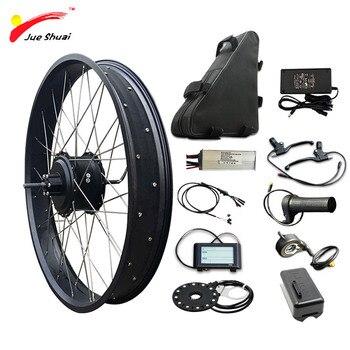JS-Kit de conversión de bicicleta eléctrica sin escobillas, 48V, 1000W, batería de...