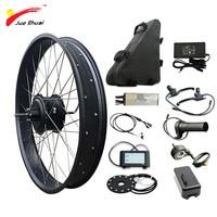 JS 48V 1000W Electric Bike Conversion Kit with 48V20AH Battery Brushless Hub Rear Motor Wheel bicicleta electrica E bike Kit