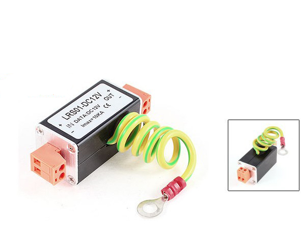 Computer & Office Free Shipping 1pcs Ac Dc 12v Single Channel Power Surge Protector Lighting Protection With 2pin Connector Bright In Colour