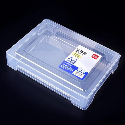 A4 Plastic Transparent Portable File Box Moisture-proof Portable Data Box
