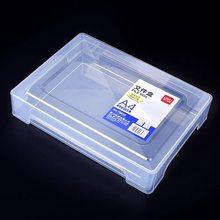 A4 plastic transparent portable file box Moisture-proof portable data box