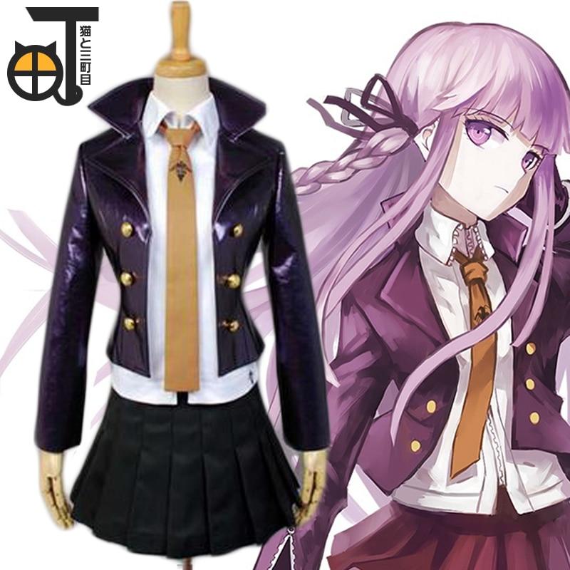 Free shipping Japanese font b Anime b font Danganronpa Kirigiri Kyouko font b Cosplay b font