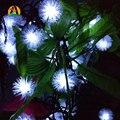 12 M 100 LED lámpara Colgante LED solar Luces de cadena Decoración Para El Árbol De Navidad Fiesta de Jardín Al Aire Libre Patio Linterna