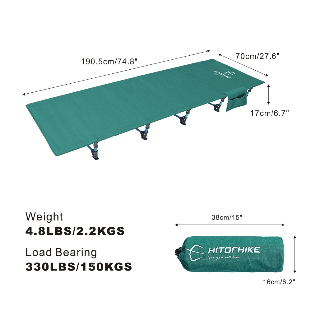 Hitorhike Camping Cot Compact Folding Cot Bed for Outdoor Backpacking Camping Cot Bed  Ultralight Folding Tent 2