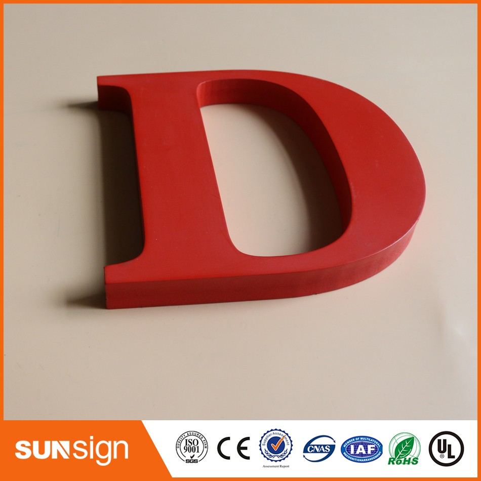 Custom A To Z Car Painted Wood Letters Sign For Home Decoration