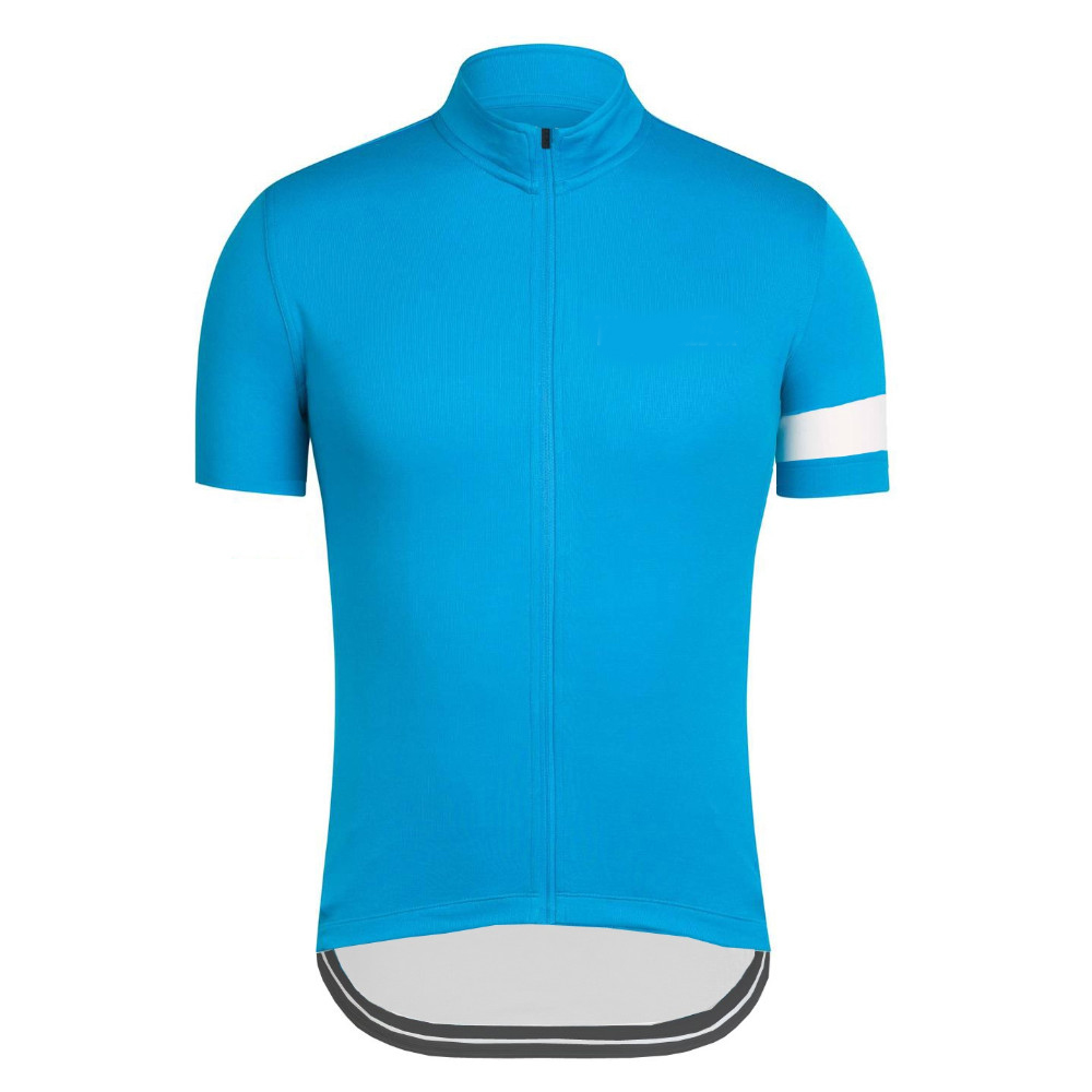 Mens Short Sleeve Cycling Jersey pure blue Ropa Ciclismo Road Racing Cycle Clothes Mtb Bike Cycling clothing can add a name