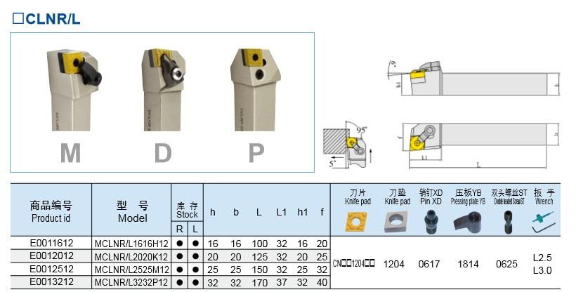 ФОТО MCLNR3232P12 Nicecutt External Turning Tool Holder for CNMG insert Lathe Tool Holder