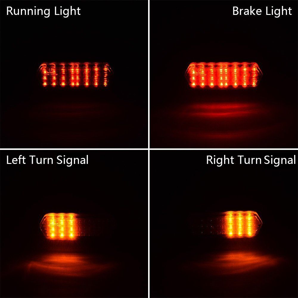 Triclicks 80W mootorratta saba lambi uus integreeritud LED-signaali - Mootorrataste tarvikud ja osad - Foto 6