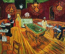 The Night Cafe II by Vincent Van Gogh Handpainted