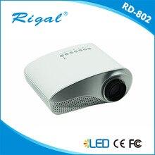El Envío Libre Nuevo llega original Rigal RD-802 Proyector 3D HD1080P ayuda a Domicilio el rojo y azul 3 d Proyector