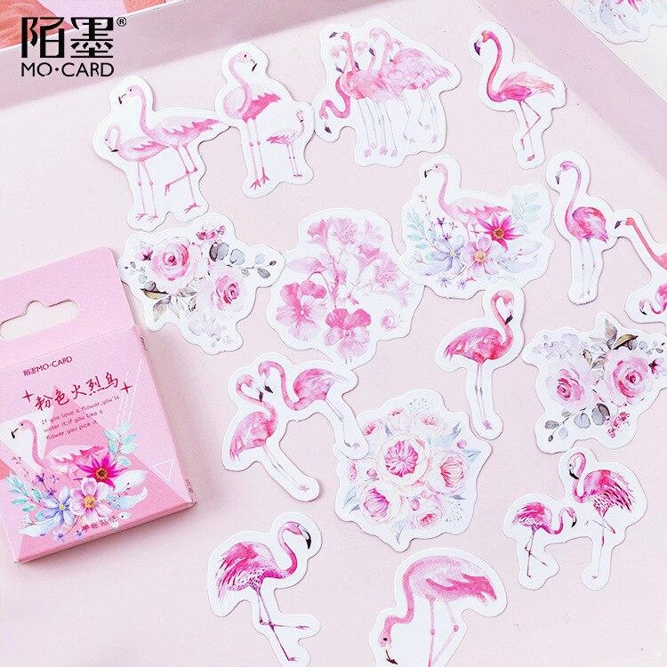 19x//Lot Kunst Abziehbild PVC Flamingo Aufkleber Notebook Handy Schutzhülle x Ksy