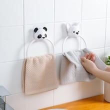 Картонные панды полотенцесушители круглое кольцо для полотенца кольца настенные ручные полотенца кольцо аксессуары для ванной комнаты