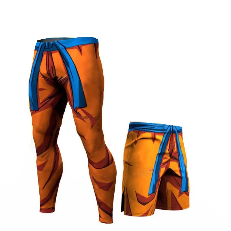 Fashion Compression Tights Dragon Ball Long Pants Fitness Leggings Men Slim Fit Joggers Workout Trousers Plus Size Underpants