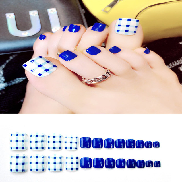 Aliexpress Buy 24sheetsset Toenails Stickers Sexy Blue Nail