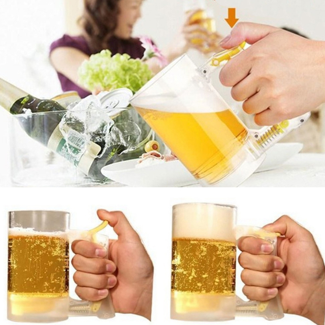 Bar Atmosphere Beer Bubble Foaming Mug 1pcs Hour Friendly Beer Foam Maker Frothing Cup Beer Glass Party Supplies Beer Foamer Mug