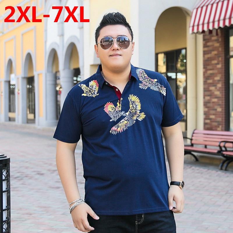2018 nouvelle grande taille 9XL 8XL 7XL 6XL 5XL mode hommes marque d'été coton dragon ball revers manches courtes polo ralphmen pol chemise