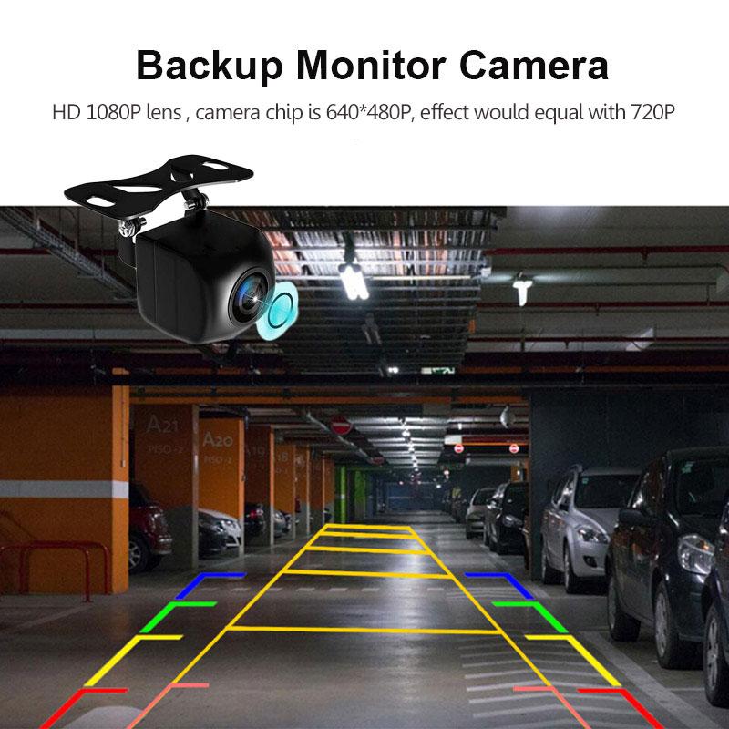 cheapest 12V Rear View Camera Fish Eye Wide Angle Night Vision Waterproof Backup Camera 4 Pin 5Pin For Android Mirror Parking Dash Cam