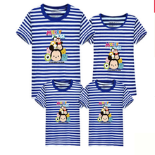 2017 Cute Family Look Cartoon T Shirts Summer Family Matching Clothes Father Mother Kids Outfits Cotton Tees Child Shirts  Fy004