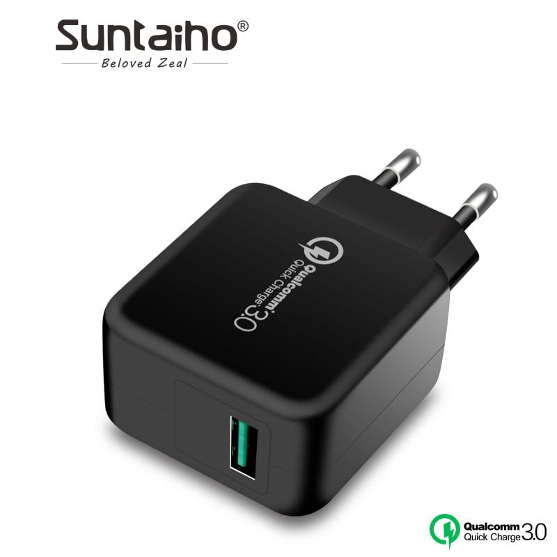 Suntaiho Qualcomm Carica Rapida 3.0 USB Phone Charger Rapido Caricabatteria Da Viaggio USB Parete Adattatore di Caricabatteria per iPhone/Samsung/Xiaomi