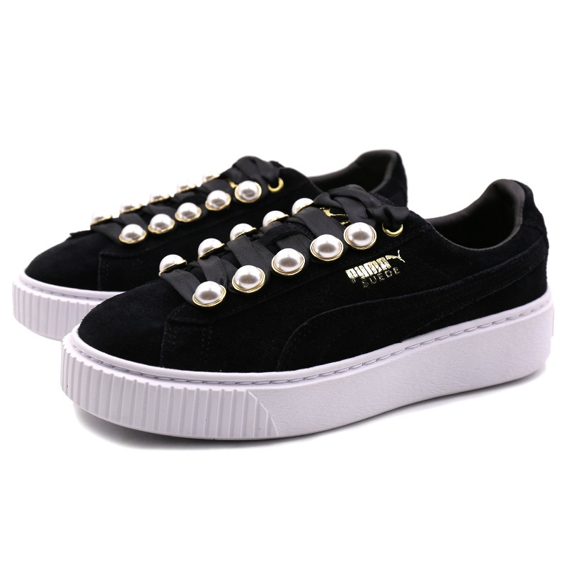 Special Price Original New Arrival PUMA Suede Platform Bling Women's Skateboarding Shoes Sneakers January 2020
