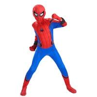 Kids Spider Man Homecoming Peter Parker Cosplay Costume Boys Halloween Superhero Party Spiderman Suit Spider Man Jumpsuit