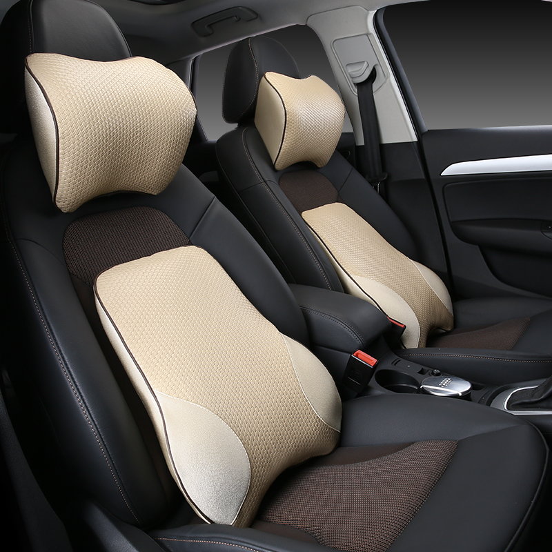 Lumbar Support Cushion For Car And Headrest Neck Pillow Kit Ergonomically Design Universal Fit Major Car Seat in Seat Supports from Automobiles Motorcycles