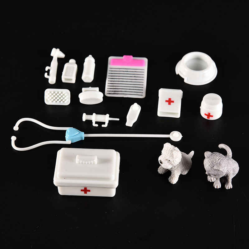1 Set Popular Mini Plastic Medical Popular Decor Doctor Nurse Role Plays Educational Toy For for dolls