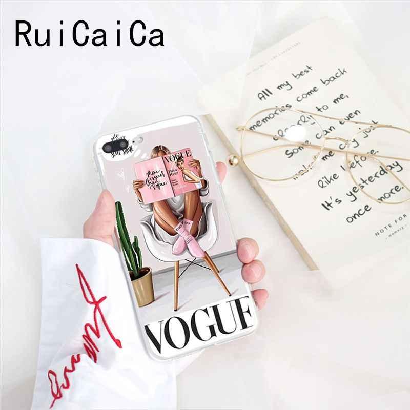 RuiCaiCa Vogue de Navidad chica cuidado donut mejor viajes verano teléfono caso funda para iPhone 8 7 6 6S Plus 5 5S SE XR X XS X máx. 10