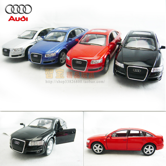 4 Soft World Kinsmart Audi Audi A6 Alloy Car Model Toy Car In