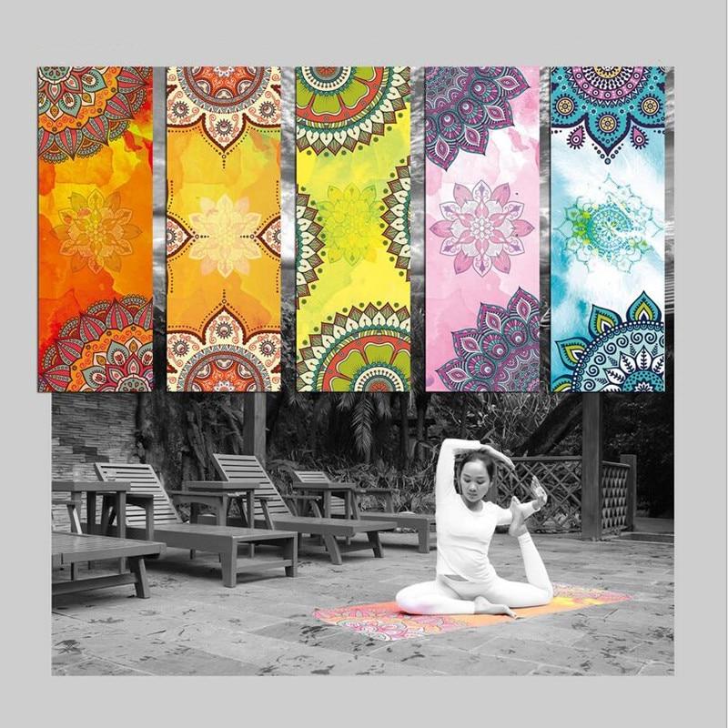 Jauns izdevums drukāts modelis joga paklājs dvielis sporta fitnesa - Fitnesa un kultūrisms