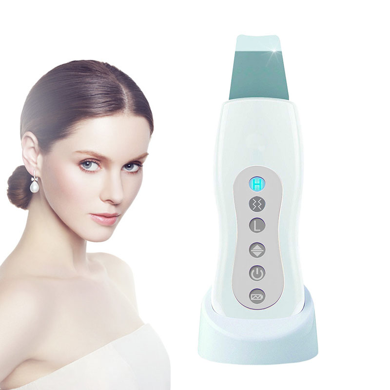 Ultrasonic Skin Scrubber Cleaner Face Cleaning Acne Removal Facial Spa Massager Ultrasound Exfoliator Peeling Massage Machine