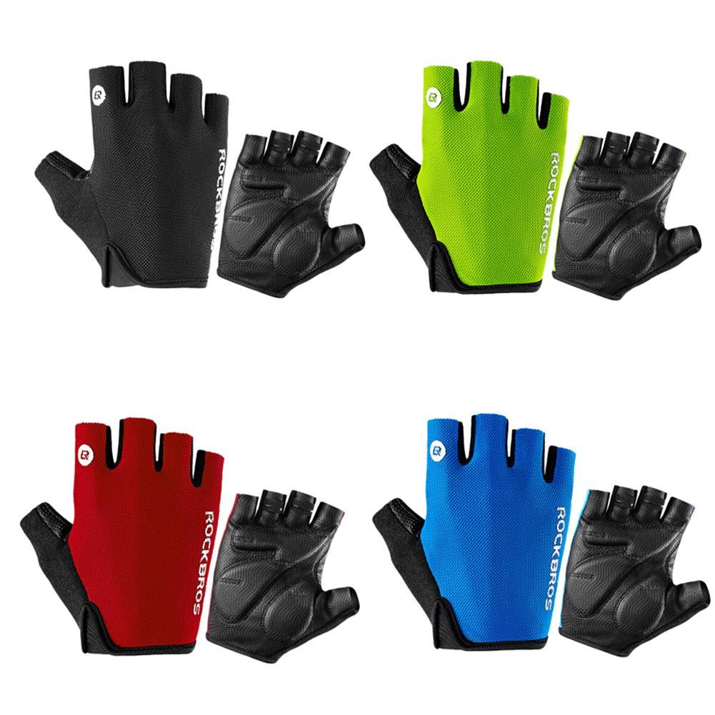 2018 Bicycle Bike Riding Fingerless Gloves Unisex Summer Non-slip Shock-proof Breathable MTB Sports Gloves Riding Cycling Glove
