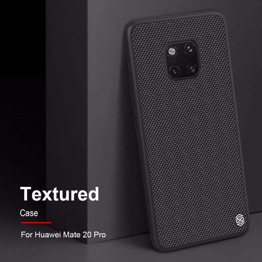 Capa para huawei mate 20 pro/mate 20 nillkin texturizado caso de fibra de náilon capa traseira durável antiderrapante fina e leve