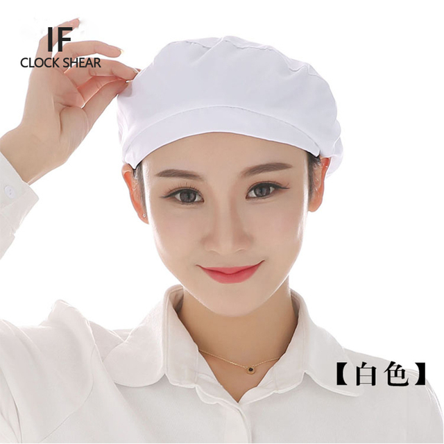Kitchen Hats Sink With Drainboard If New Cloth Hat Chef Female Health Work Canteen Restaurant Food Bakery Baking Breathable