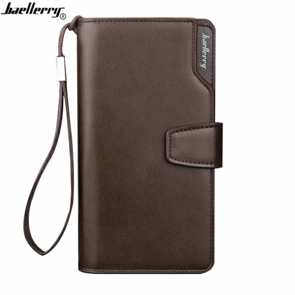 Baellerry Men Wallet Long High Quality Genuine Leather Male Clutch Zipper Walllets Big Capacity Purse Cellphone Pocket Carteira