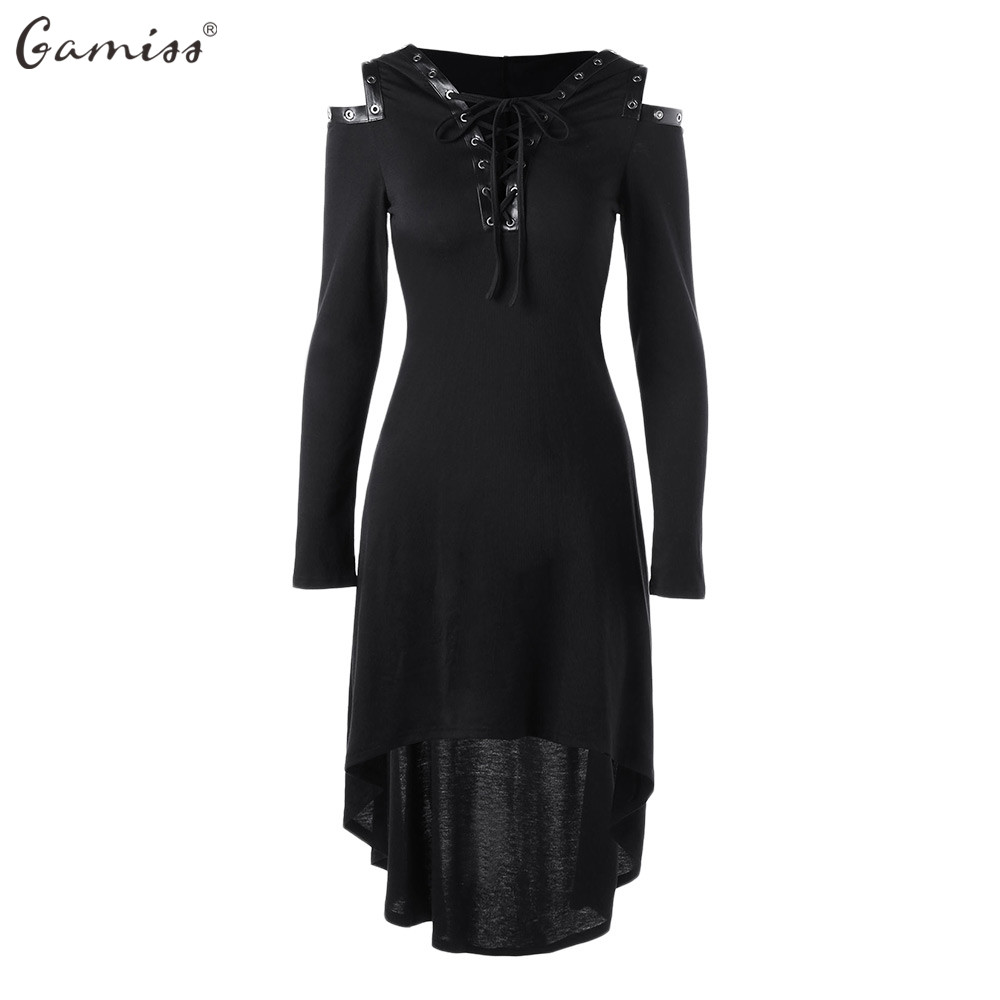 Wipalo Gothic Women Dress Vestidos Mujer Party Dress 2018 Black Cross Back Lace Panel Bow Corset Dresses Robe Vestidos Femme Women's Clothing