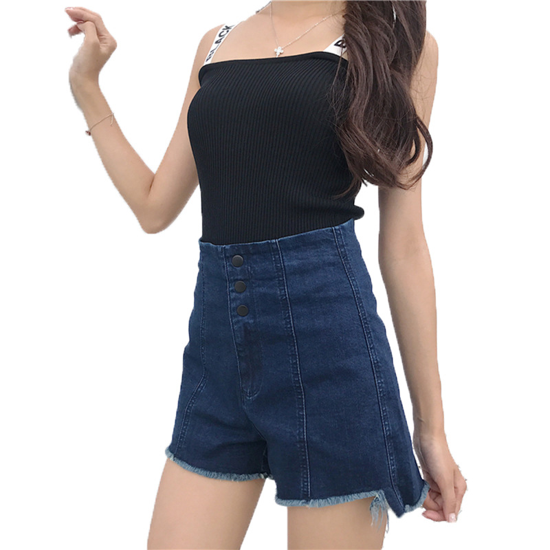Loose Jeans for Woman Summer Stretch Denim Shorts Jeans Pants Women High Waist Thin Wide-leg Shorts