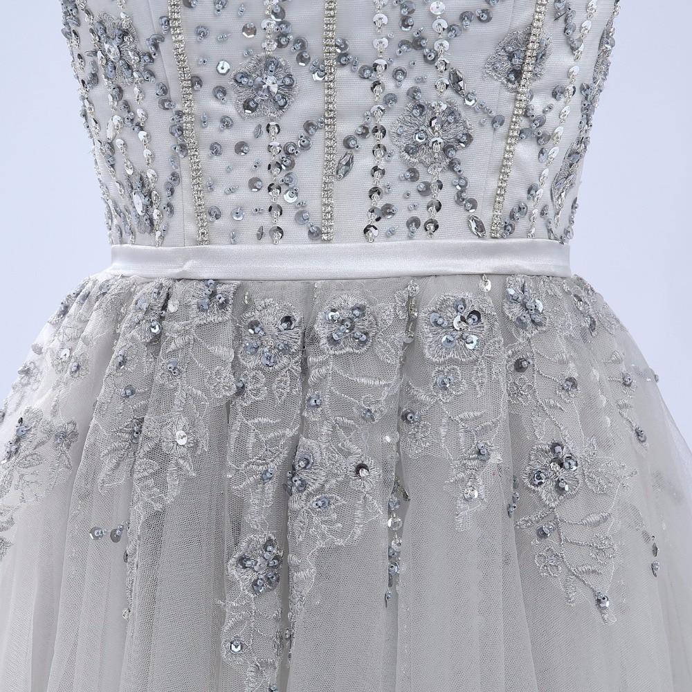 ANTI Luxe 2017 Robe De Cocktail Jurken Mouwloze Tulle Voor Bruiloft - Jurken voor bijzondere gelegenheden - Foto 6