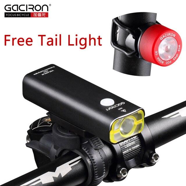 Gaciron велосипед 400 люмен светодиодный фонарик USB аккумуляторная руль фара езда на велосипеде лампа с бесплатной W05 фонарь