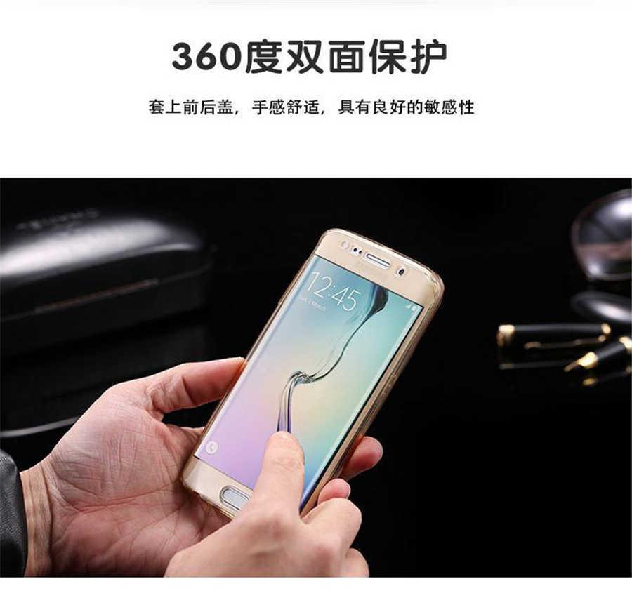 Caja clara del teléfono suave para Samsung Galaxy A6 A8 Plus 2018 A3 A5 A7 J1 J3 J5 J7 2015, 2016 cubierta completa de silicona Neo Prime 2017