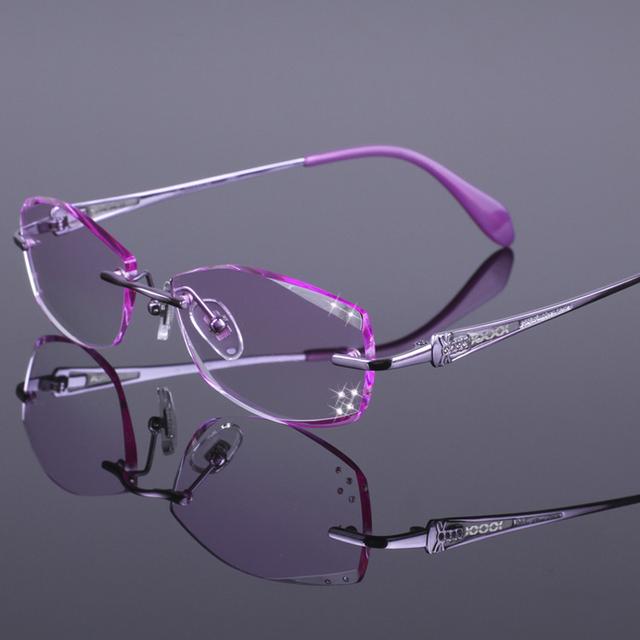 New coréia titanium sem aro armações de óculos armações de óculos das mulheres óculos frames oculos de grau rs-925 3 cores rosa roxo vermelho