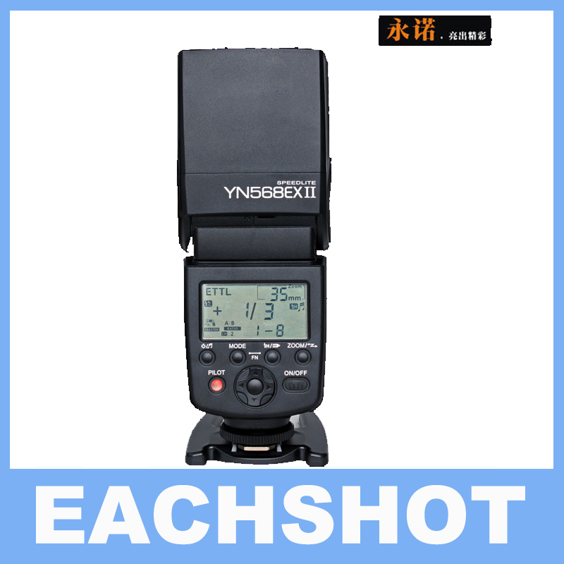 Yongnuo YN-568EX II YN568EX TTL Master High Speed Sync 1/8000s Flash Speedlite for CANON 5D Mark II,III,5D2 6D 7D 60D 70D 700D 3pcs yongnuo yn600ex rt auto ttl hss flash speedlite yn e3 rt controller for canon 5d3 5d2 7d mark ii 6d 70d 60d