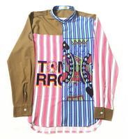 High New 2017 Men poker spades Jack Striped Fashion Cotton Casual Shirts Shirt high quality Pocket long sleeves Top S 2XL #C43