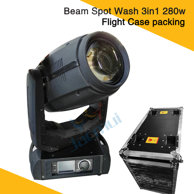 (2Pcs/Lot) Flight Case Packing 10R Lamp Mounted 23 Gobos Spot Beam Moving Head 280W Opera House 3D Moving Head Beam Wash Light