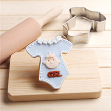 TTLIFE Baby Clothes Shape Cookie Cutter Stainless Steel Biscuit Mold Die Pastry Fruit Baking Moulds Fondant Cake Decorating Tool