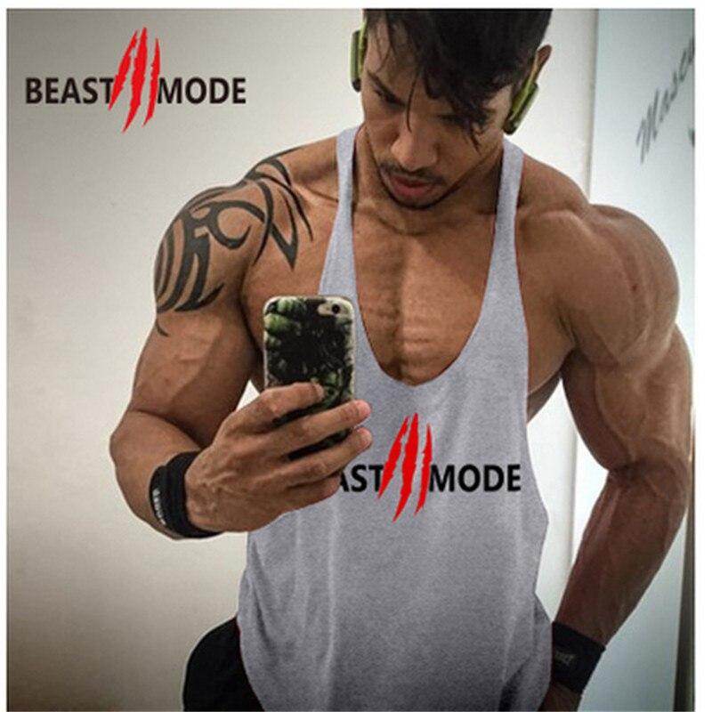 Gym Fitness Vest Sports Men's Exercise Vest Sleeveless Shirt Cotton Muscle Vest Sweatshirt Running Vest T-shirt