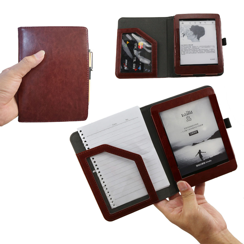Paperwhite high quality leather flip book case cover for Amazon Kindle Paperwhite 3 2 4 and