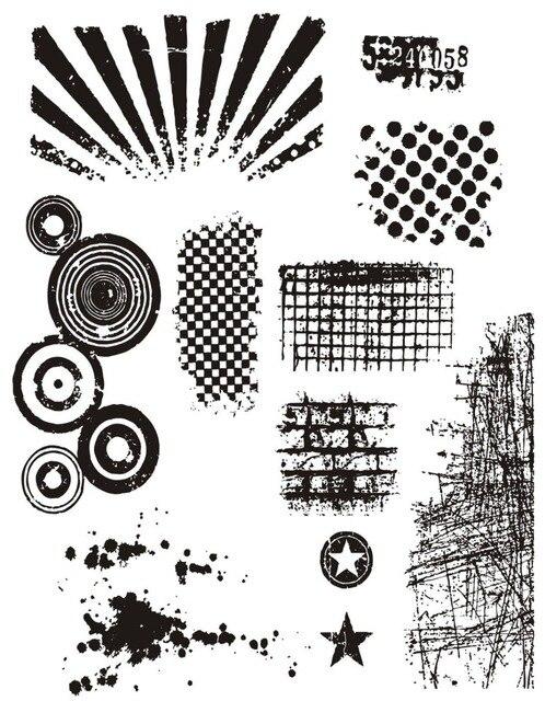 Fondo transparente sello de silicona/sello para DIY scrapbooking/álbum de fotos sello claro decorativo B223
