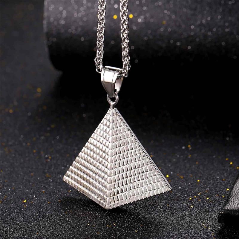 Illuminati Pyramide-Halsketten für Frauen / Männer arbeiten - Modeschmuck - Foto 4